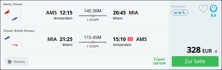 cheap amsterdam miami flights