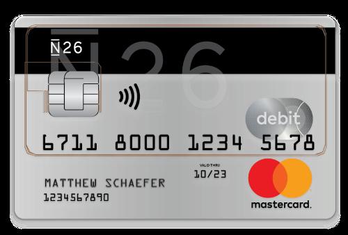n26 credit card mastercard