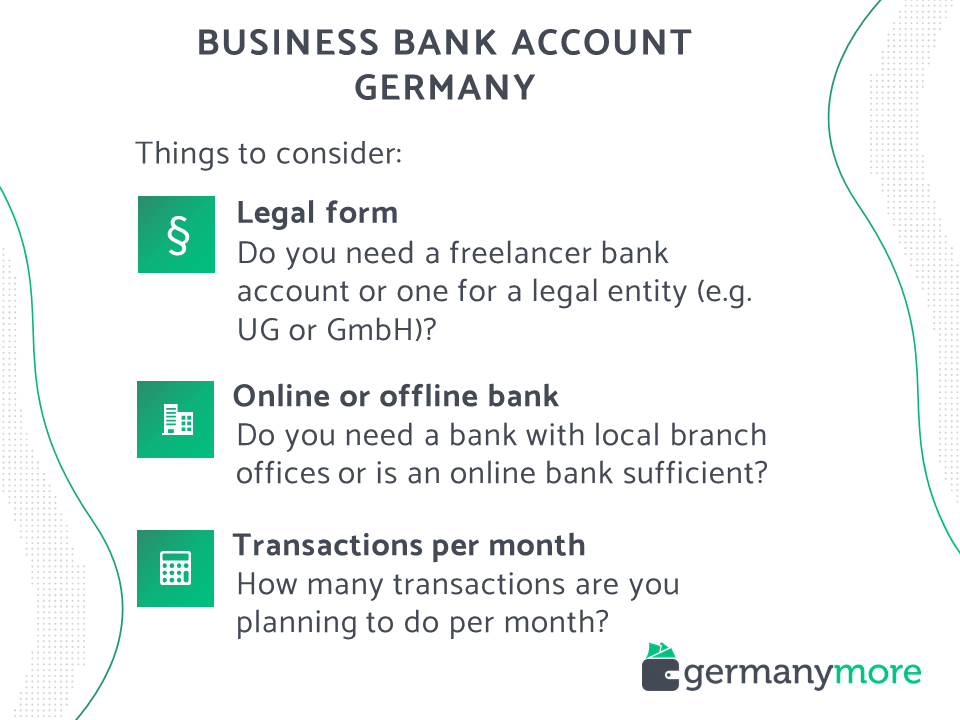 how to choose the best business bank account in germany