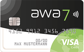 awa7 visa credit card