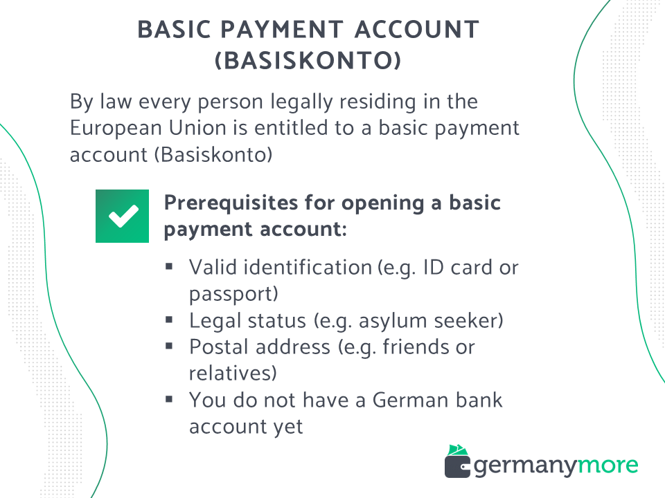 how to open a basic payment account in germany basiskonto